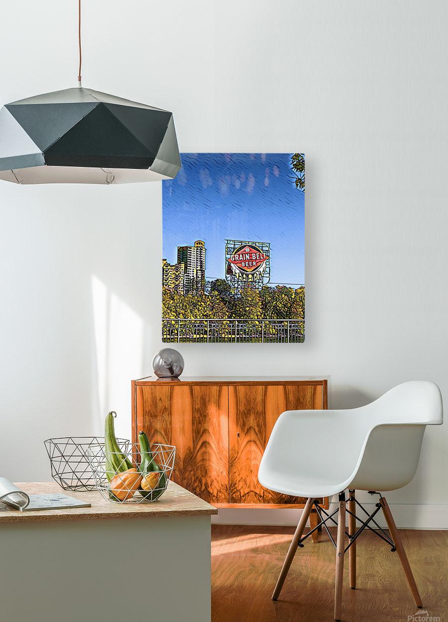 Grain Belt Beer  HD Metal print with Floating Frame on Back