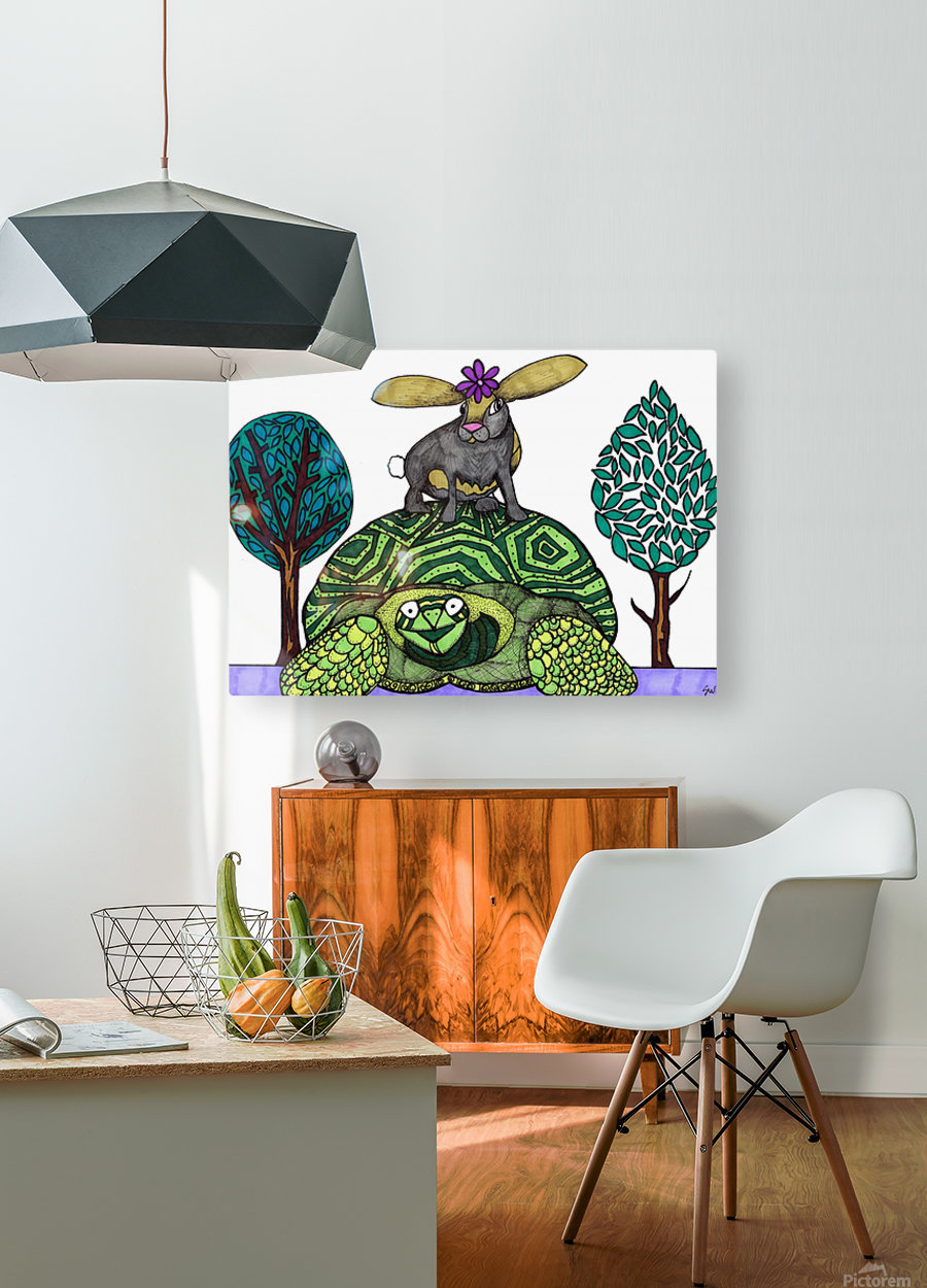 tortoise and hare  HD Metal print with Floating Frame on Back