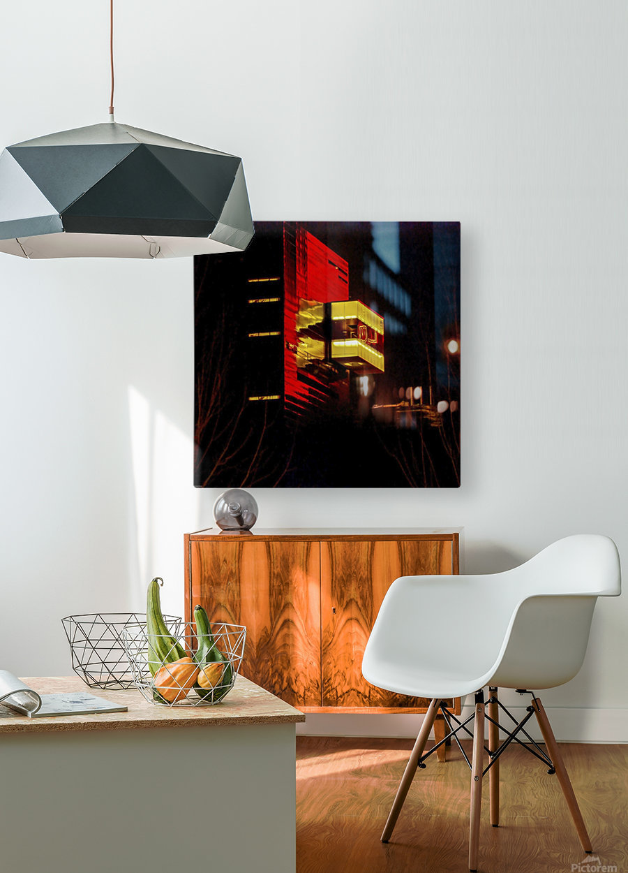 Night at the Guthrie  HD Metal print with Floating Frame on Back