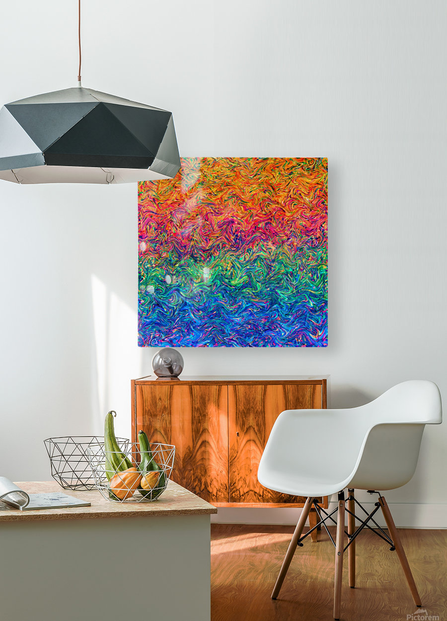 Fluid Colors G249  HD Metal print with Floating Frame on Back