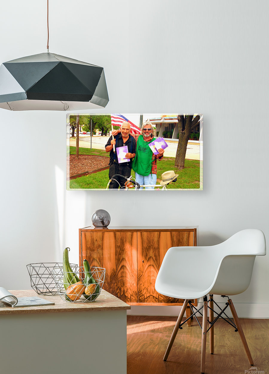Homeless War Buddies  HD Metal print with Floating Frame on Back
