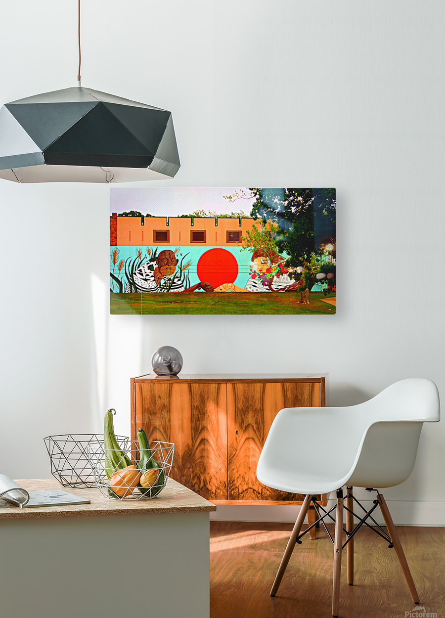 Beautiful Mural OKC  HD Metal print with Floating Frame on Back