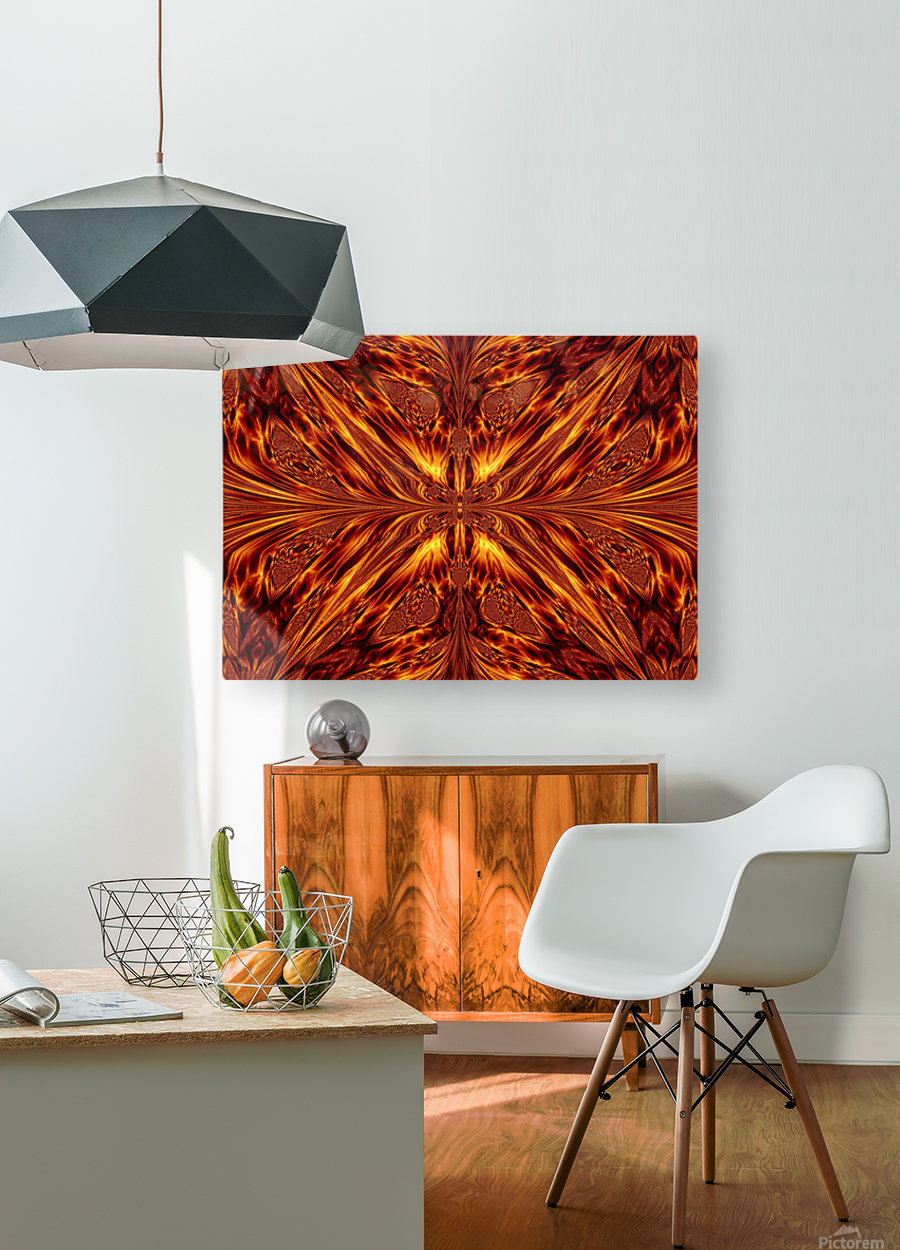 Fire Butterfly   HD Metal print with Floating Frame on Back