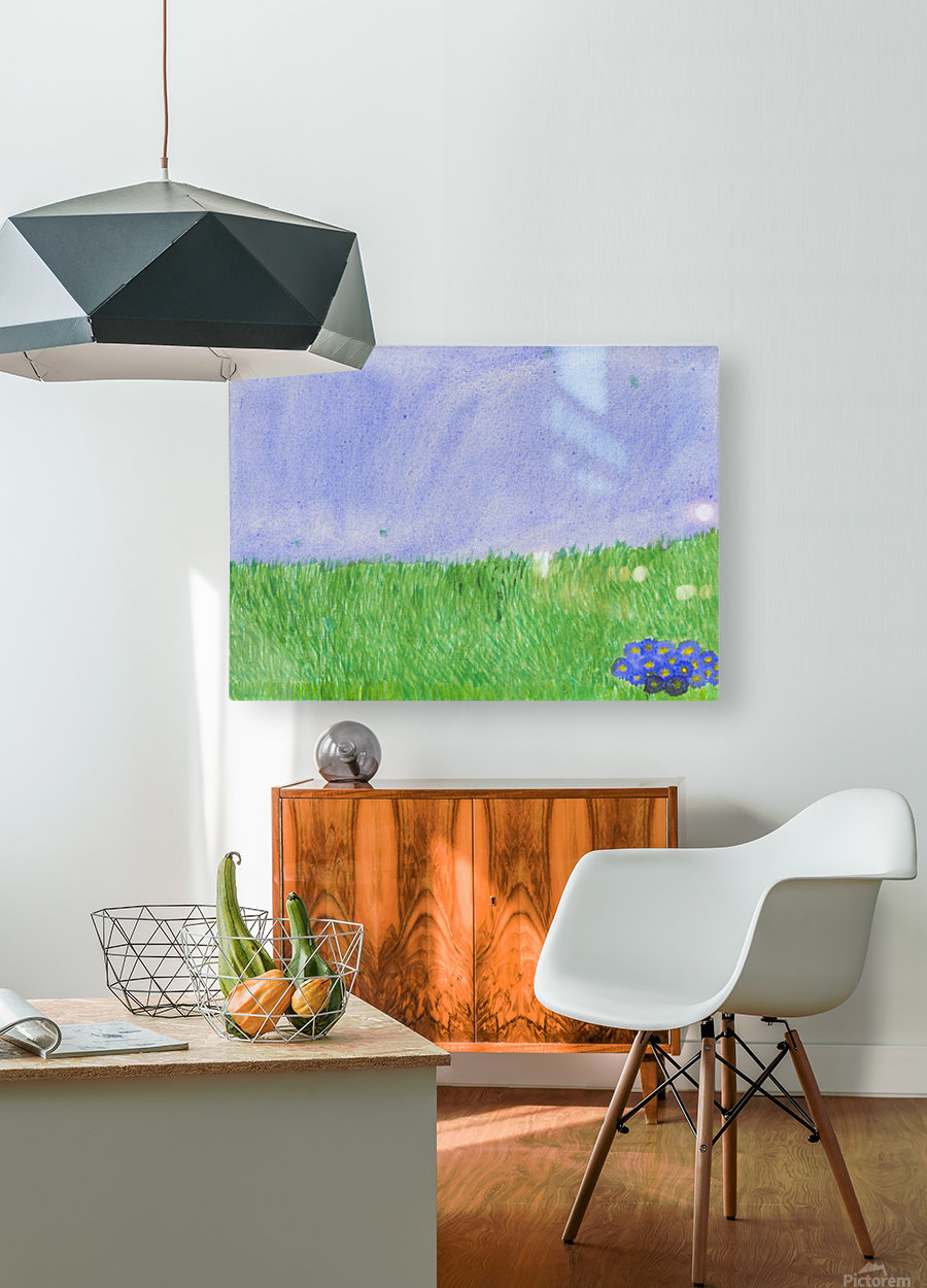 field of grass  HD Metal print with Floating Frame on Back