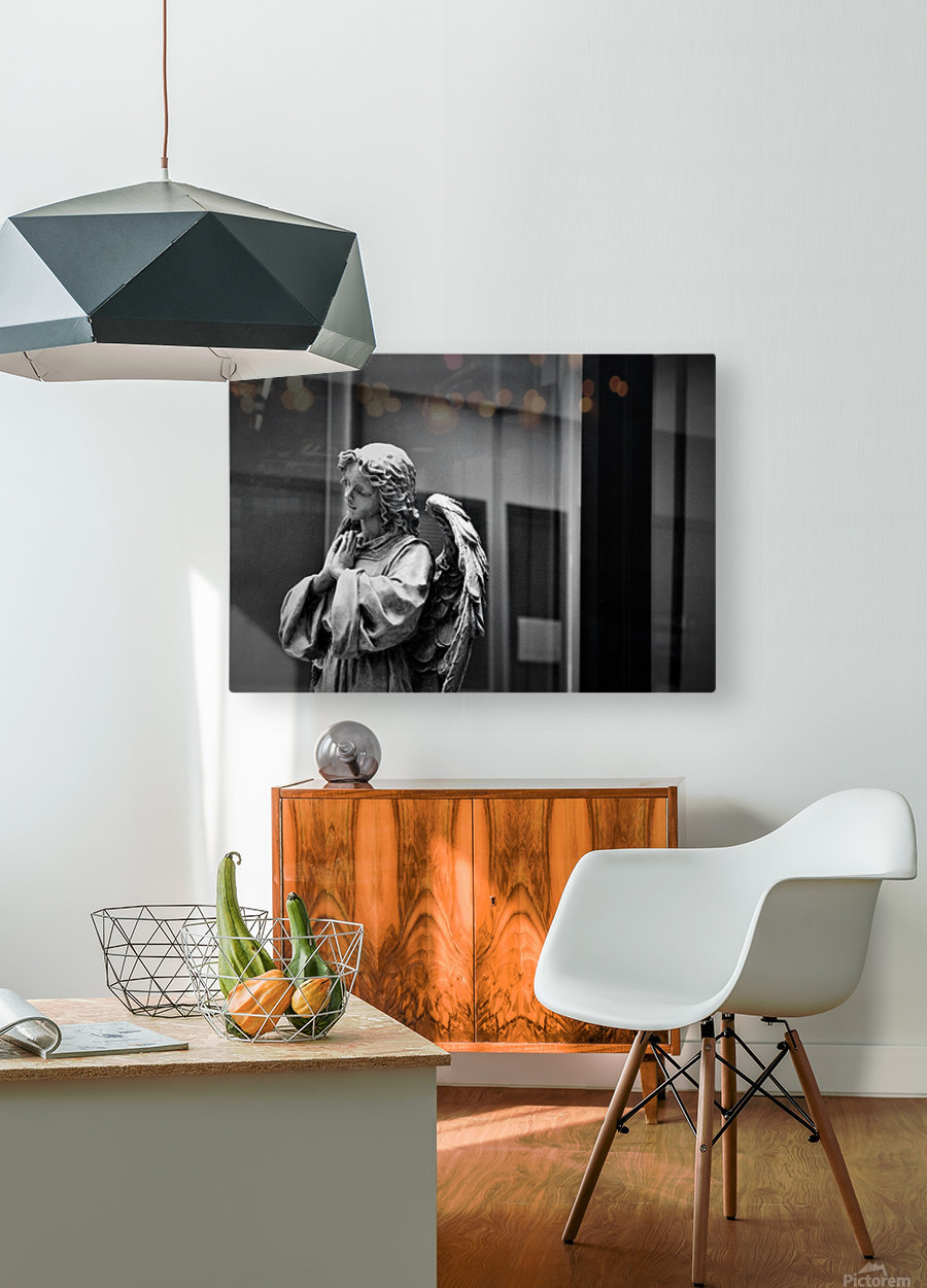 Angel in the Window  HD Metal print with Floating Frame on Back