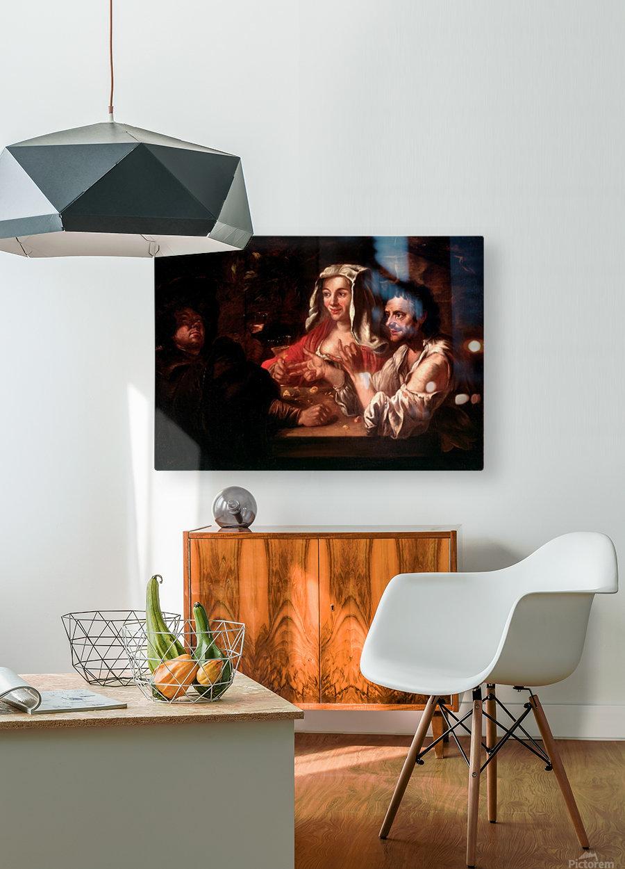 The Game of Mora  Impression métal HD avec cadre flottant sur le dos