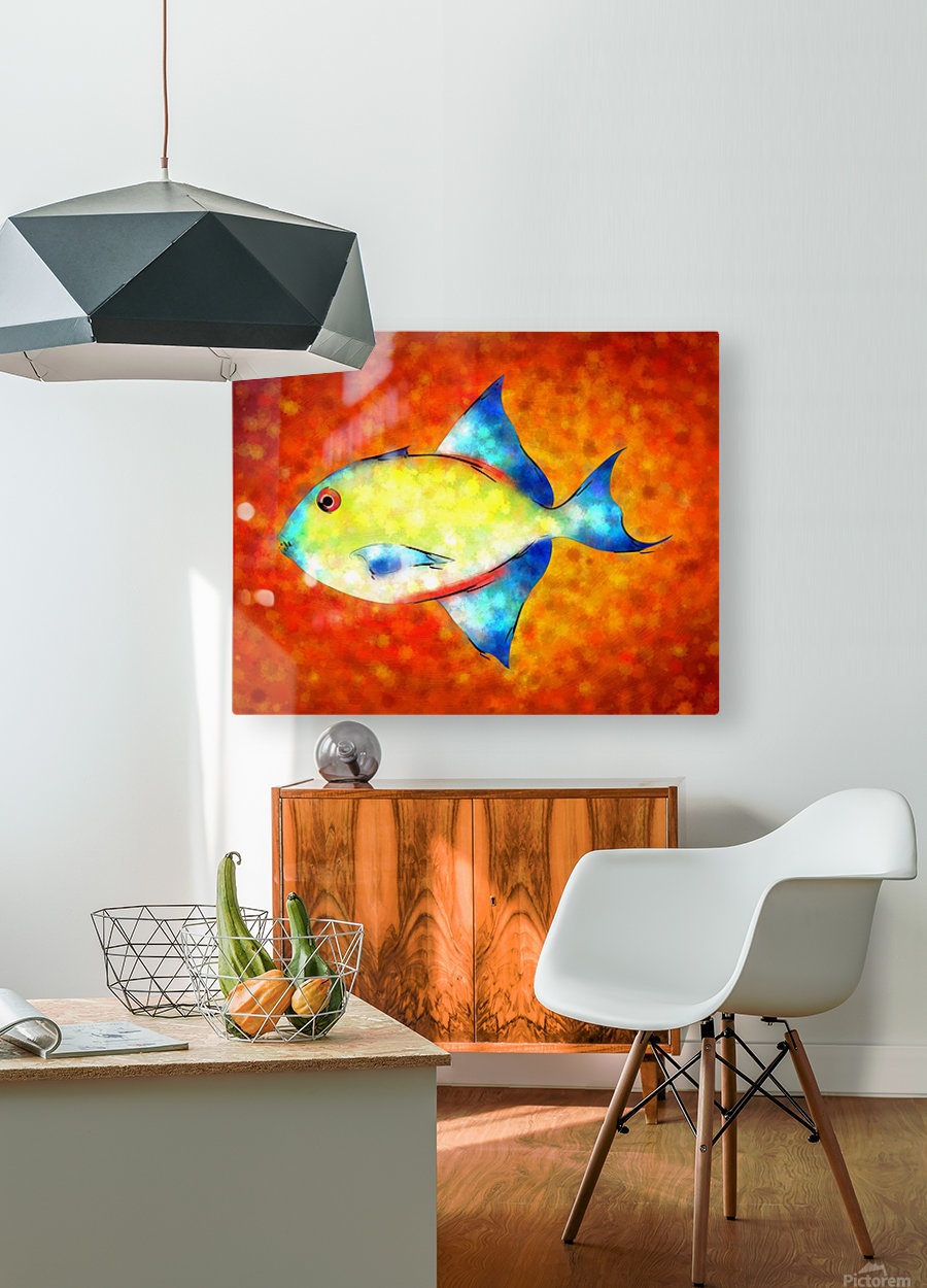 Esperimentoza - gorgeous fish  HD Metal print with Floating Frame on Back