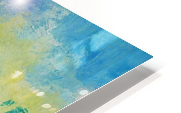 Landscape and Sun HD Sublimation Metal print