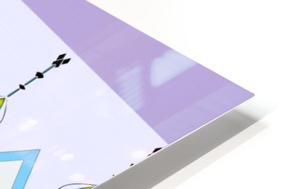 Pastel Pattern 1 HD Sublimation Metal print
