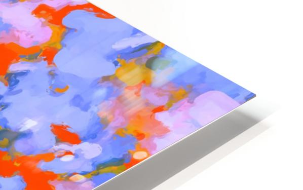 splash painting texture abstract background in red blue orange HD Sublimation Metal print