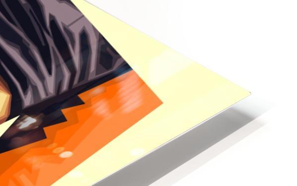Sky Blue Orange HD Sublimation Metal print
