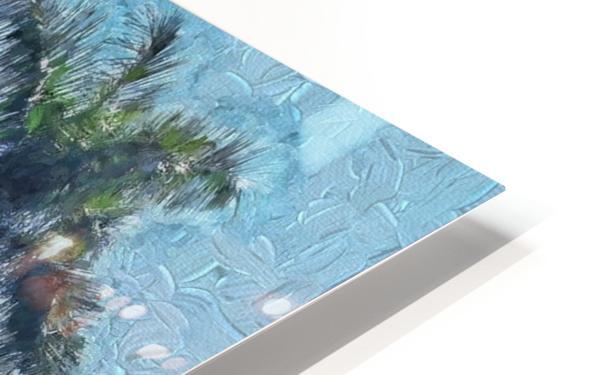 A Monet style Palm HD Sublimation Metal print