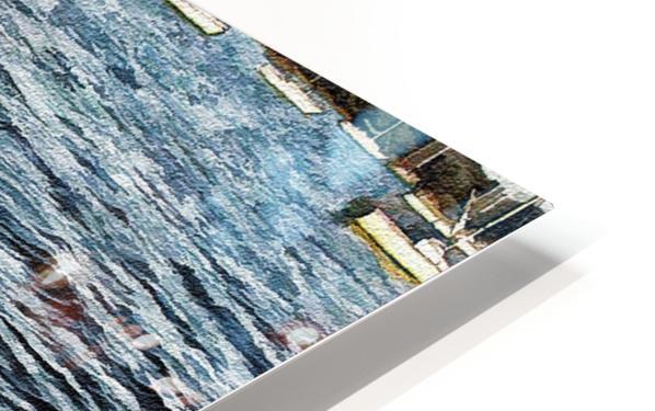 Boats At The Bay HD Sublimation Metal print