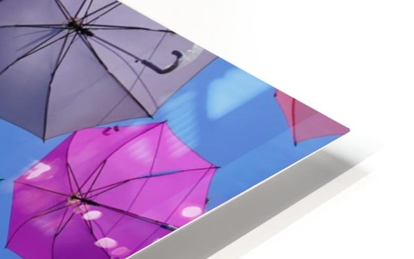 Colorful umbrella HD Sublimation Metal print