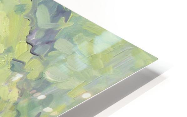 Tea Roses Bouquet on the Windowsill HD Sublimation Metal print