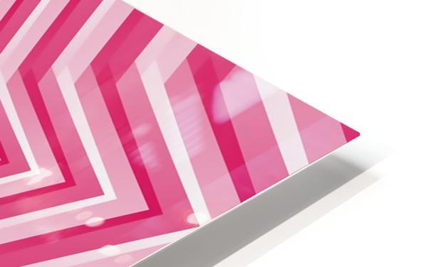 Pink Geometric Design Art HD Sublimation Metal print