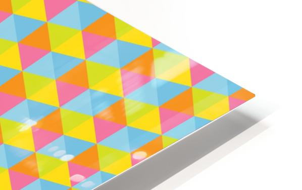 Hexagon Seamless Pattern Artwork HD Sublimation Metal print