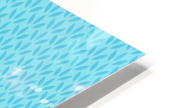 Blue Leaf pattern Art HD Sublimation Metal print