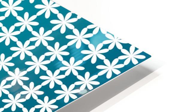 Floral Gradient Seamless Pattern Artwork HD Sublimation Metal print