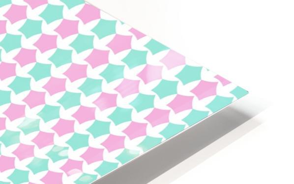Pink _ Blue Star Seamless Pattern Artwork HD Sublimation Metal print
