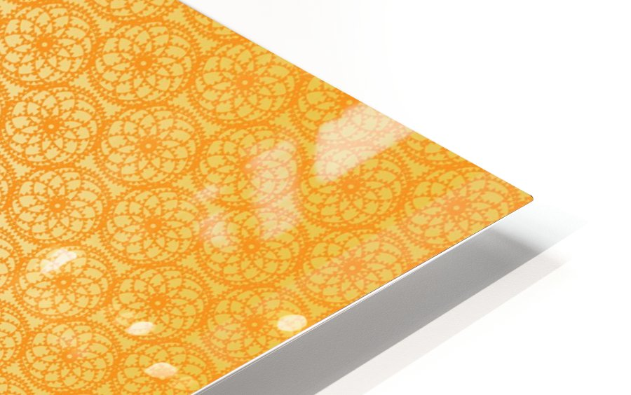 Orange Seamless Pattern Art HD Sublimation Metal print
