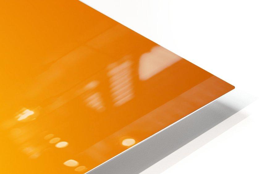 Orange Gradient Background HD Sublimation Metal print