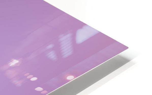 Pink Blurred Background HD Sublimation Metal print