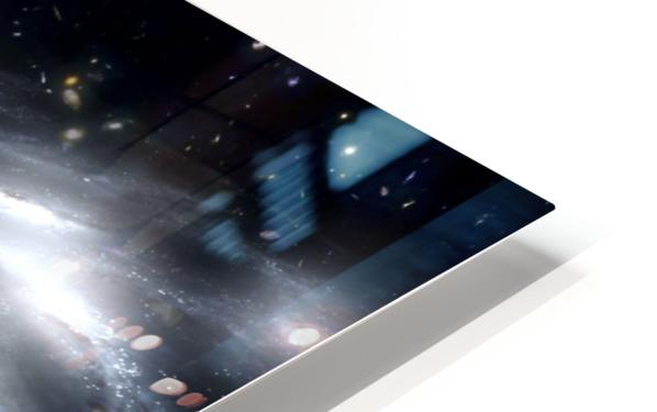 A rare galaxy that is extremely dusty and produces radio jets HD Sublimation Metal print