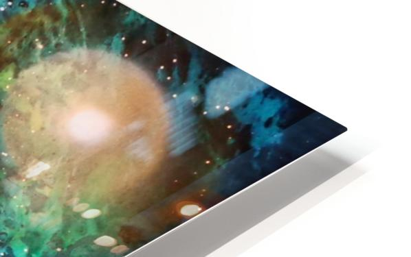 Blue maroon galaxy HD Sublimation Metal print