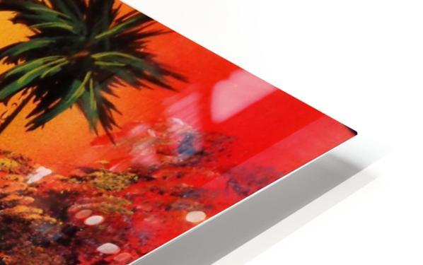 Jungle beach HD Sublimation Metal print