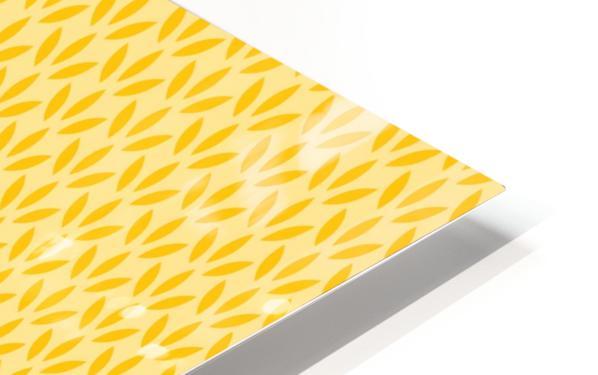 Yellow Flora HD Sublimation Metal print