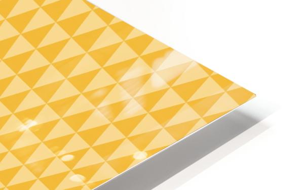 YELLOW Triangle Shape Seamless Pattern Background   HD Sublimation Metal print