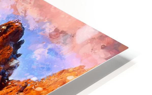 Colorado Mountains - Digital Painting III HD Sublimation Metal print