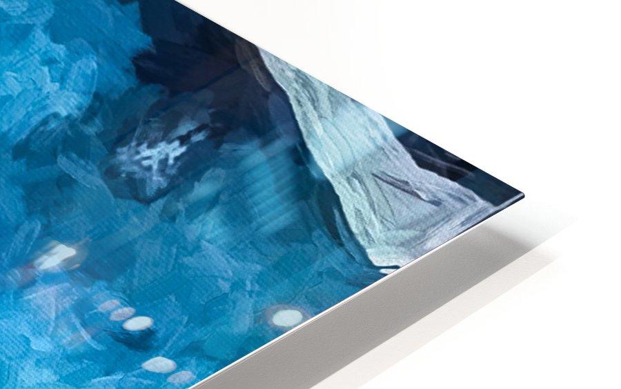 Blue Sunrise HD Sublimation Metal print