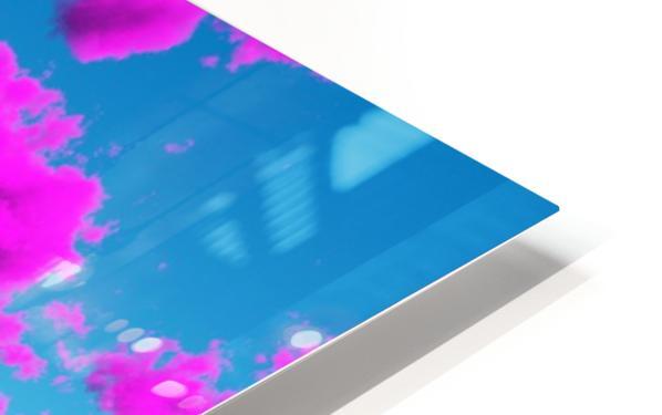 Vivid Purple Cloudscape HD Sublimation Metal print