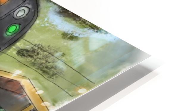 MBTA Green Line Trolly HD Sublimation Metal print