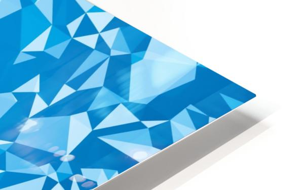 geometric triangle pattern abstract in blue HD Sublimation Metal print