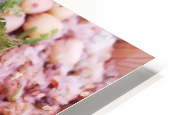 Each grain in your dish is a fruit of work.  HD Sublimation Metal print