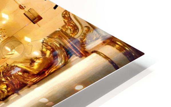 Golden button HD Sublimation Metal print