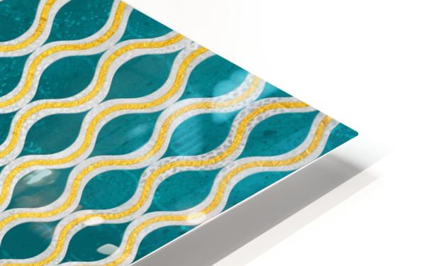 Gold - Turquoise pattern I HD Sublimation Metal print