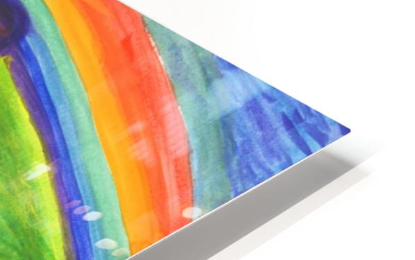 Mystical rock under the rainbow HD Sublimation Metal print