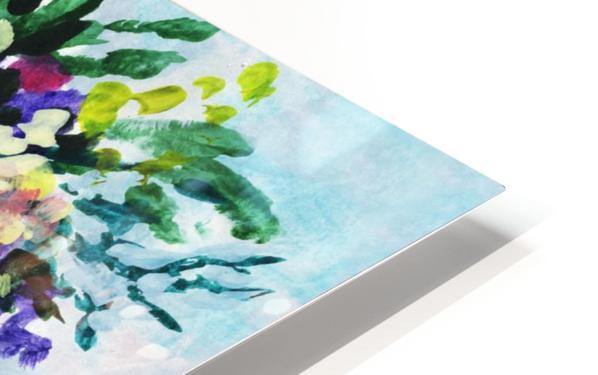 Impressionistic Flowers Burst Of Beauty HD Sublimation Metal print