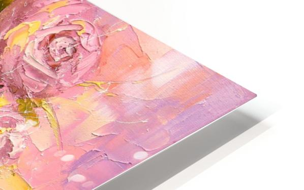 A bouquet of delicate roses HD Sublimation Metal print