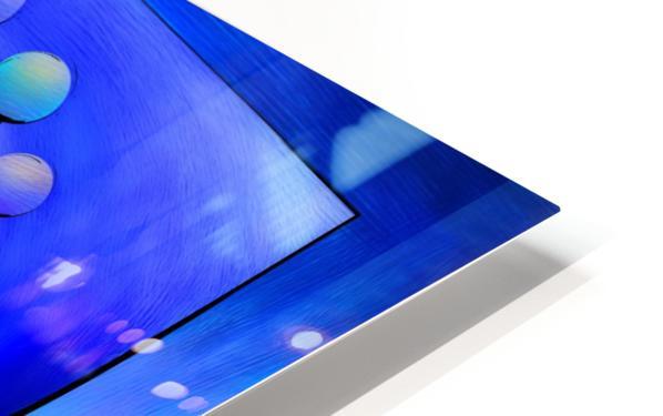 Escanissimera - endlessly limited blue spiral snail HD Sublimation Metal print