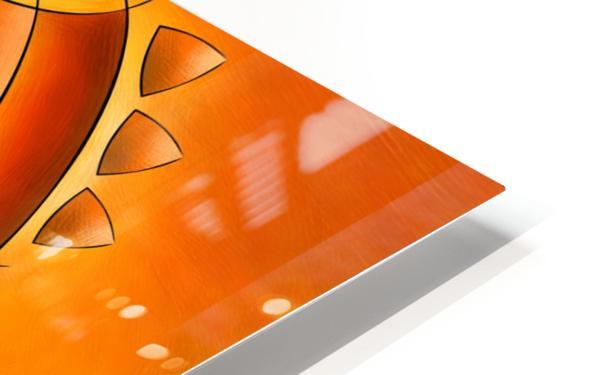 Sankhiassa - dragonfly with orange sky HD Sublimation Metal print