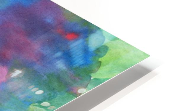Watercolor abstraction with a blurred floral pattern HD Sublimation Metal print