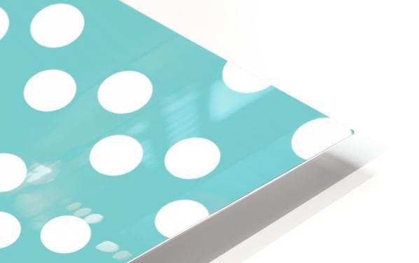 Dark Slate Gray Polka Dots HD Sublimation Metal print