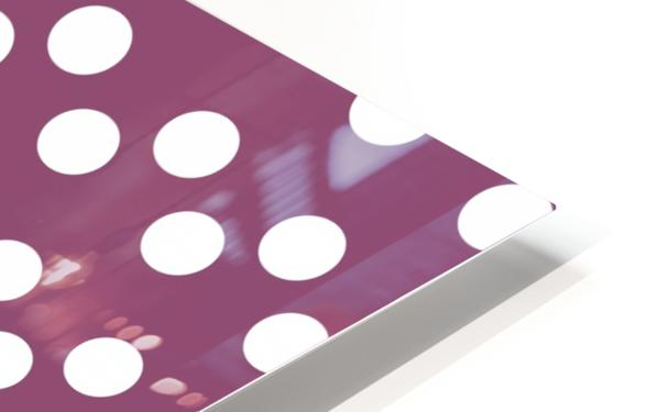 BURGUNDY Polka Dots HD Sublimation Metal print