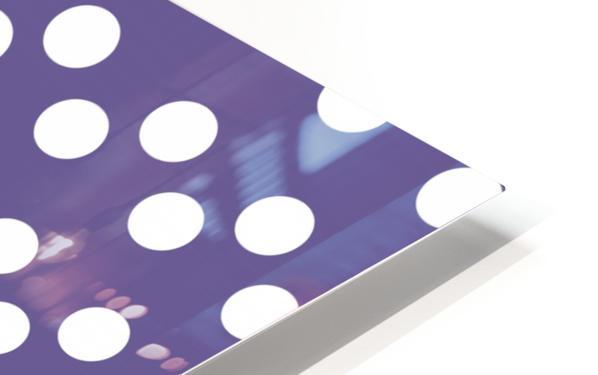 Ultra Violet Polka Dots HD Sublimation Metal print