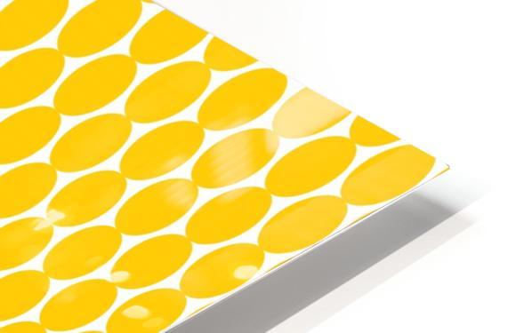 Yellow  egg shape HD Sublimation Metal print